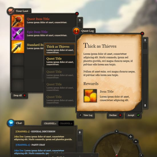 RPG User Interface Design
