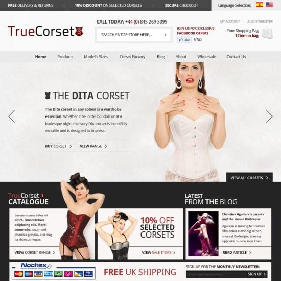 True Corset Homepage