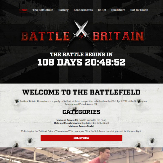 CrossFit Battle of Britain Homepage Image